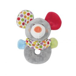 Lorelli Toys Plyšová hrkálka - Myška