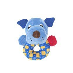 Lorelli Toys Plyšová hrkálka - Modrý psík