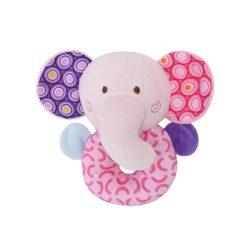 Lorelli Toys Plyšová hrkálka - Ružový sloník